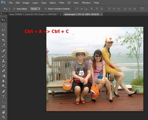 Ghép ảnh vào lịch 2016 bằng Photoshop