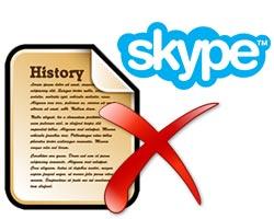 xoa lich su chat skype