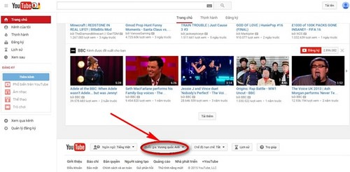 Cách xem Clip HOT Việt Nam và các nước trên Youtube
