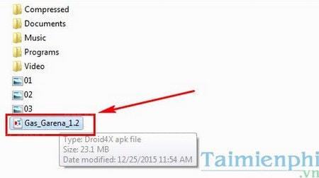 Bước 3: Đợi giây lát để Droid4x cài đặt ứng dụng, khi hoàn thành sẽ có  thông báo: Install Success!