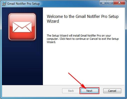cai dat gmail notifier
