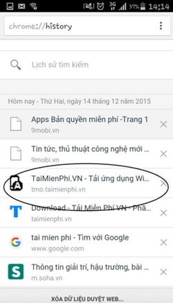 Khôi phục tab Chrome đã đóng trên Android