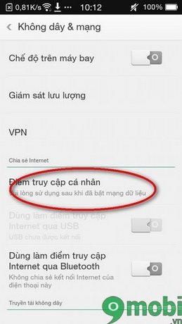 Tạo điểm phát wifi trên điện thoại Philip V387a