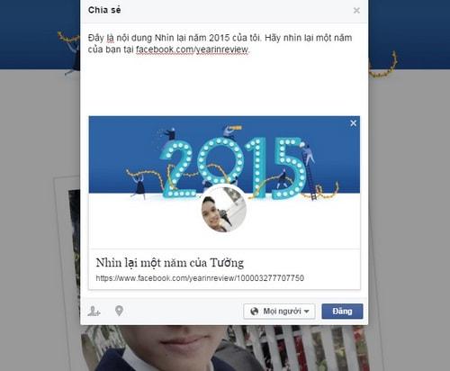 Year in review - Tính năng nhìn lại năm 2015 trên Facebook