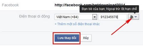 an so dien thoai tren facebook