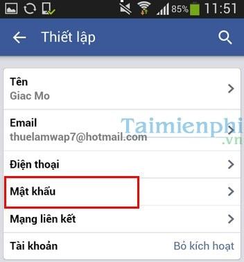 doi mat khau facebook tren dien thoai windows phone