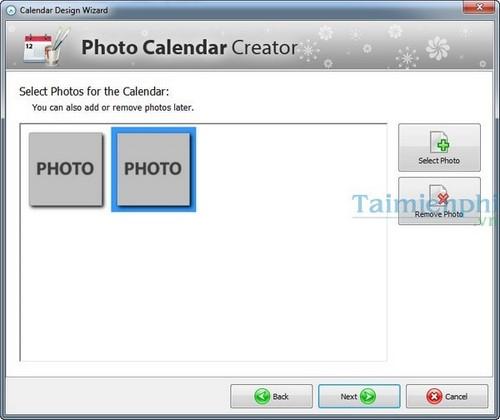 Tạo lịch tết, năm mới 2015 ấn tượng độc đáo với Photo Calendar Creator