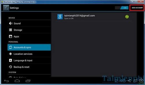 Thay đổi tài khoản, đổi gmail trong BlueStacks