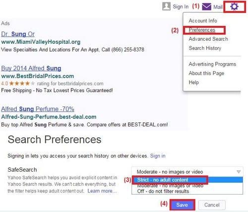 Bật bộ lọc 18+ khi tìm kiếm Google, Bing, Yahoo trên Firefox, Chrome, Cốc Cốc
