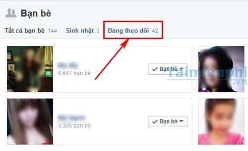 Cách bỏ theo dõi, hủy theo dõi trên Facebook