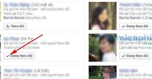 Khong theo doi ban be tren facebook