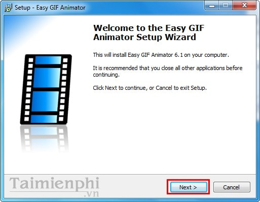 cai dat Easy GIF Animator tren laptop