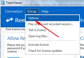Change the password to access the TeamViewer