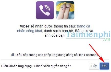 Cách kết nối Viber với facebook