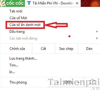 Duyet web o che do an danh tren coc coc