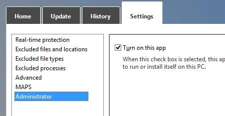 Microsoft Windows Defender on Windows 10