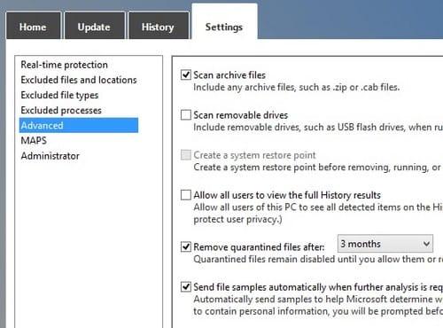 Use Microsoft Windows Defender on Windows 10