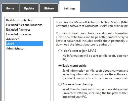 Microsoft Windows Defender on Windows 8