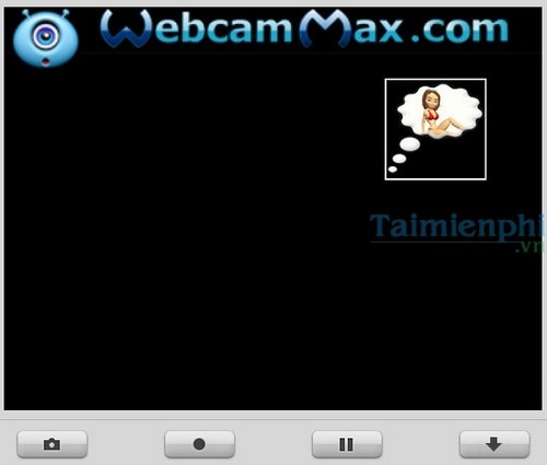 insert user interface into webcam by webcammax