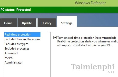 Use Microsoft Windows Defender on Windows 8