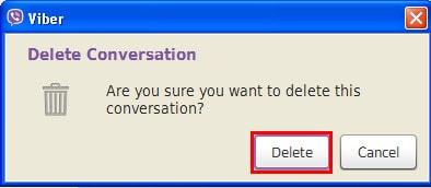 Xoa lich su chat viber tren laptop