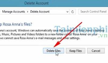 remove account windows 8 mail