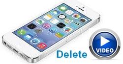 Xoa video tren iphone