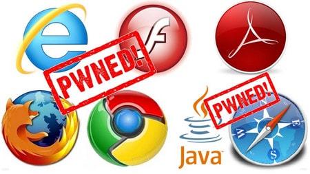 Firefox, Chrome, Internet Explorer, Safari bi hack
