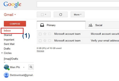 doc email trong gmail