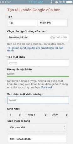 Cách đăng ký Gmail trên điện thoại, lập gmail, tạo tài khoản Gmail trên điện thoại Android, iPhone, Win