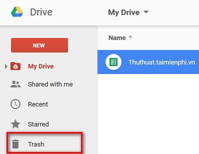 phuc hoi du lieu da xoa tren Google Drive