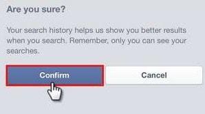 Cách xóa lịch sử tìm kiếm Facebook trên điện thoại