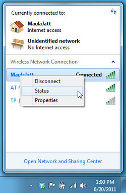 How to turn on, turn off, open wifi on my laptop windows 7
