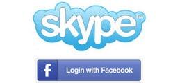 dang nhap skype bang facebook