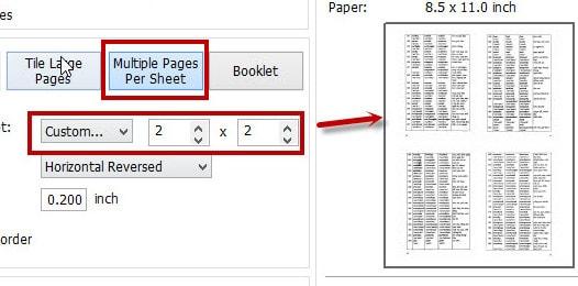 Cách in PDF, in 2 mặt PDF, in nhiều trang PDF trên 1 tờ A4 4