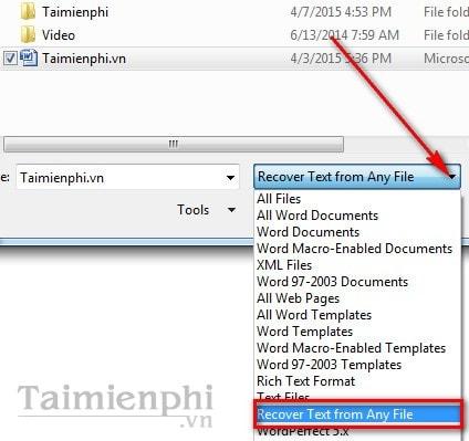 Khắc phục file word lỗi, không mở được file văn bản trên word 2