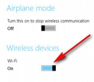 Cách mở wifi trên windows 8 khi không hiện biểu tượng wifi