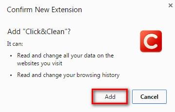 Tự động xóa lịch sử web và cookies trên Google Chrome với Click&Clean
