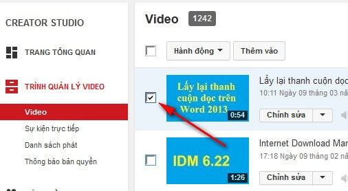 Cách xóa bỏ video vĩnh viễn, delete video trên YouTube 3
