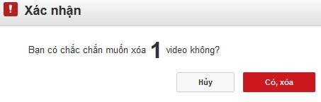 Cách xóa bỏ video vĩnh viễn, delete video trên YouTube 5