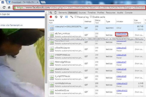 Tải video facebook bằng Google Chrome
