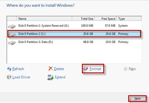how to reinstall win 7 including partition delete