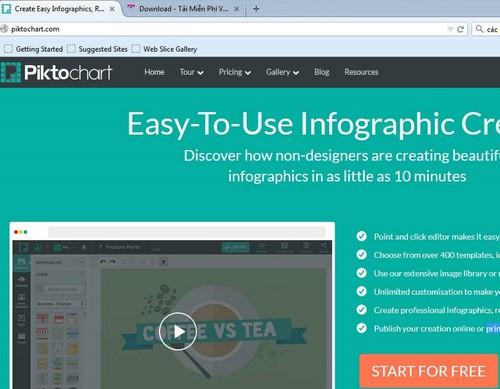 Làm Infographic đơn giản trên Piktochart