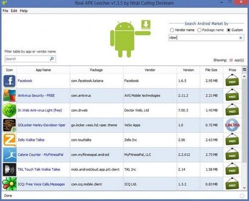Cách tải file APK từ Google Play về máy tính bằng Real APK Leecher
