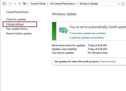 Tắt Update Win 8, đóng cập nhật Windows 8, 8.1 3