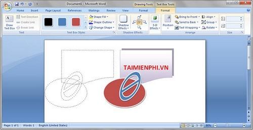 Group trong word, nhóm khối hình ảnh trong Word 2003, 2007, 2010, 2013 4