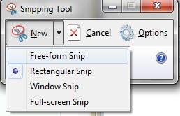 Cách chụp ảnh màn hình Win 7, 8, 10 bằng Snipping Tool