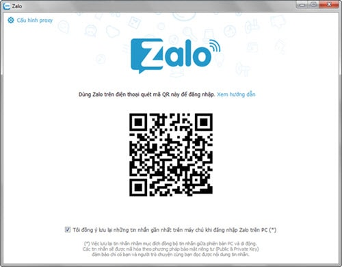 Sign Zalo, Login Chat Zalo on computer