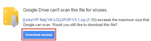 how to download from google drive file