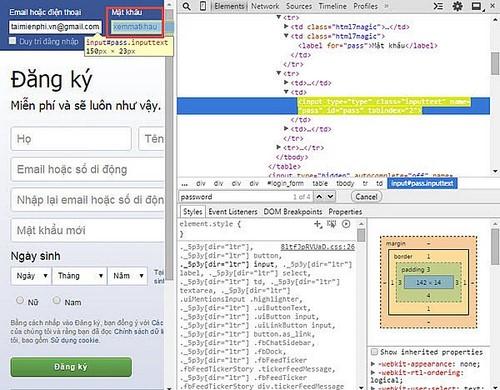 Cách hiển thị mật khẩu dạng dấu sao trên trình duyệt web